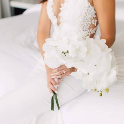 Jackie O Florists featured in Marlee and Justin's Sophisticated Wedding at Hotel X Toronto