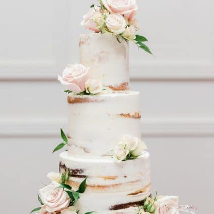 Fruitilicious Cakes featured in Ruth and Nick's Elegant Wedding at Terrace Banquet Centre