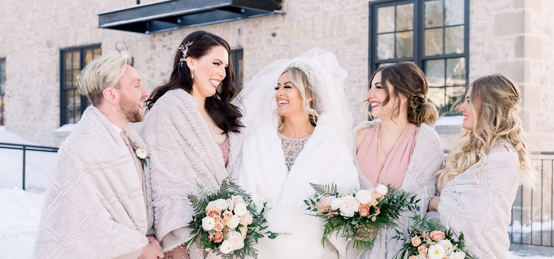 Hero image for Amanda and Mark's Stunning Winter Wedding at Elora Mill
