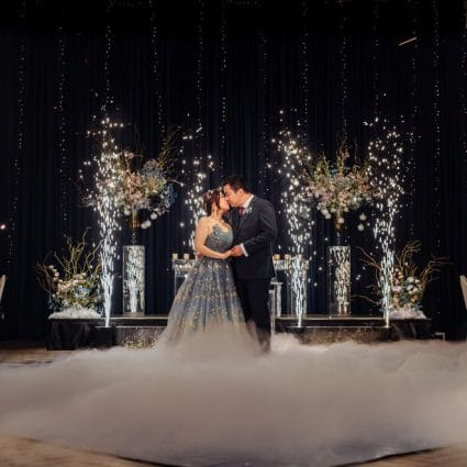 Roy Pro MC featured in Aileen and Dave's Artistic Wedding at the Arlington Estate