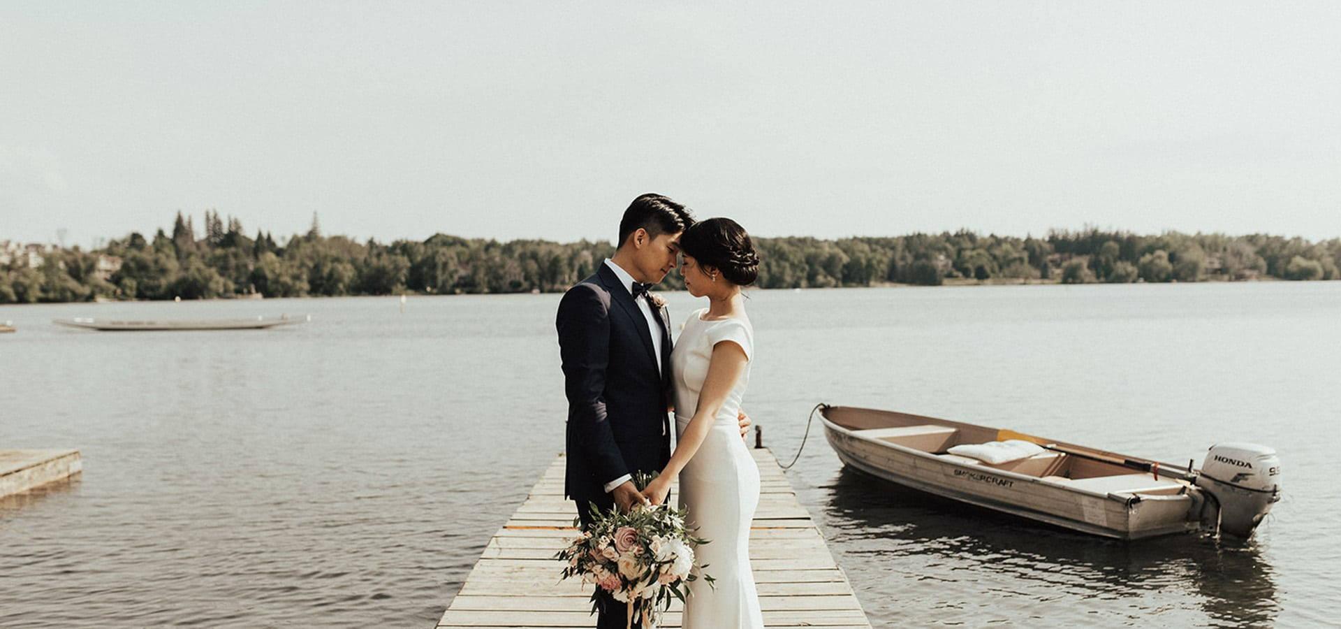 Hero image for Esther and David's Romantic Backyard Wedding