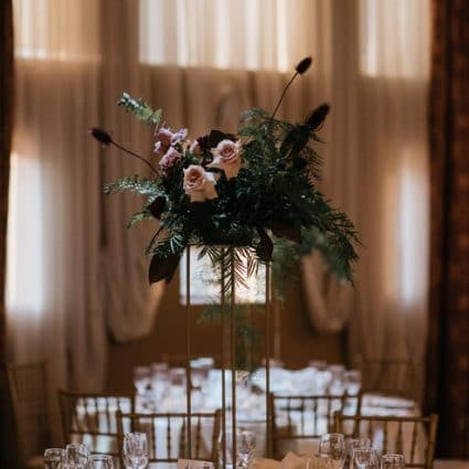 Simply Beautiful Decor featured in Kara and Michael's Romantic Winter Wedding at Liuna Station