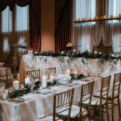 Warehouse 84 featured in Kara and Michael's Romantic Winter Wedding at Liuna Station