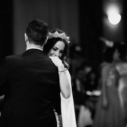 Soular featured in Kara and Michael's Romantic Winter Wedding at Liuna Station