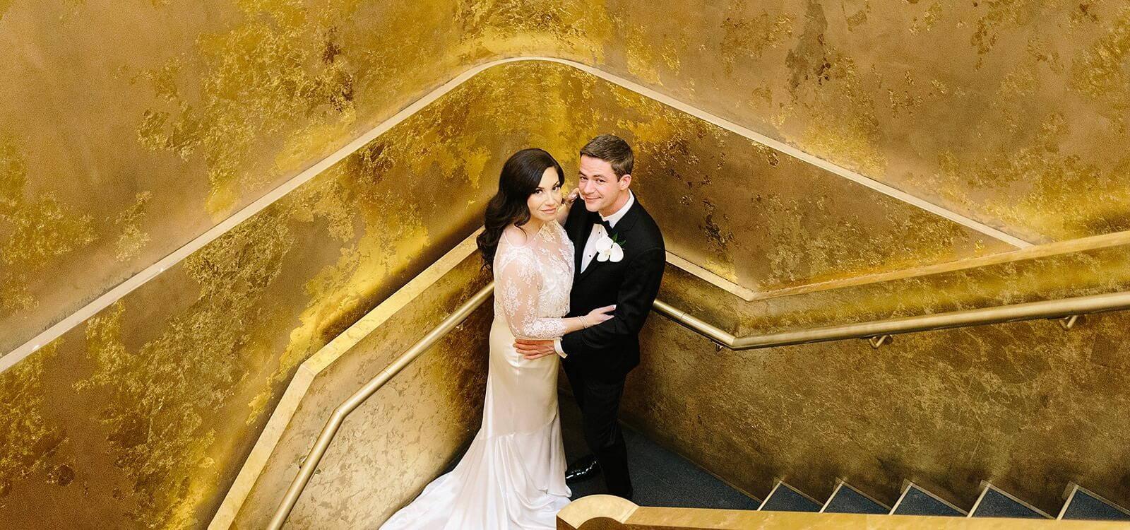 Hero image for Erin and Tony's Stylish Wedding at Ricarda's
