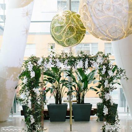 chuppah.ca featured in Erin and Tony's Stylish Wedding at Ricarda's
