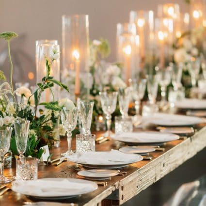 Plate Occasions featured in Danielle and Andreas' Classy Wedding at the Symes