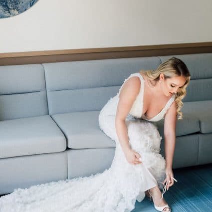 Powder featured in Danielle and Andreas' Classy Wedding at the Symes