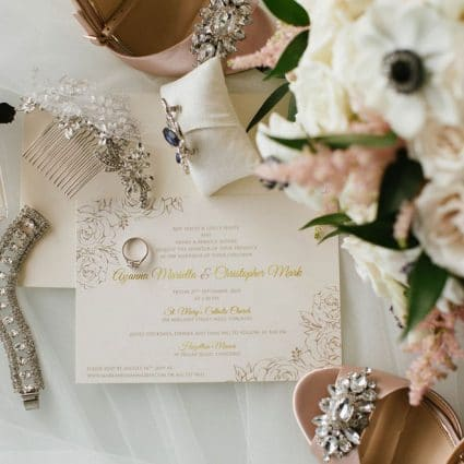 The Polka Dot Paper Shop featured in Ayanna and Mark's Joyous Wedding at Hazelton Manor