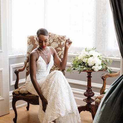 Sharleez Bridal featured in A Very Clean and Modern Editorial Shoot at the Alderlea