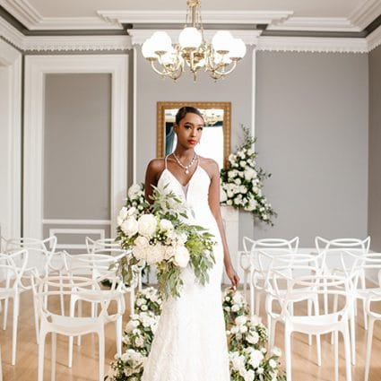 Tracey M Events featured in A Very Clean and Modern Editorial Shoot at the Alderlea