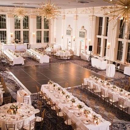 Shealyn Angus Weddings & Events featured in Sarah and Andrew's Enchanting Wedding at the King Edward Hotel