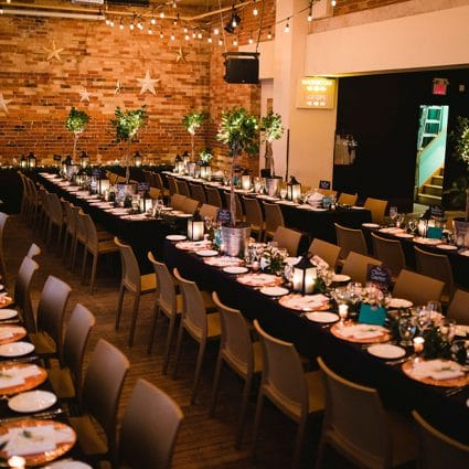 Gladstone Hotel featured in Francesca and Dave's Warm Gladstone Hotel Wedding
