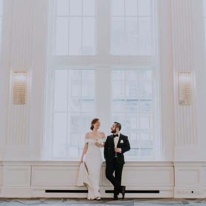 Thumbnail for Sarah and Andrew's Enchanting Wedding at the King Edward Hotel