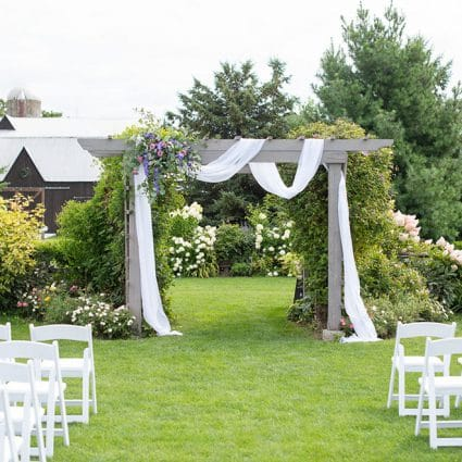 Sparkle and Twine Event Planning featured in Erica and Rob's Rustically Elegant Wedding at Maple Meadow Farm
