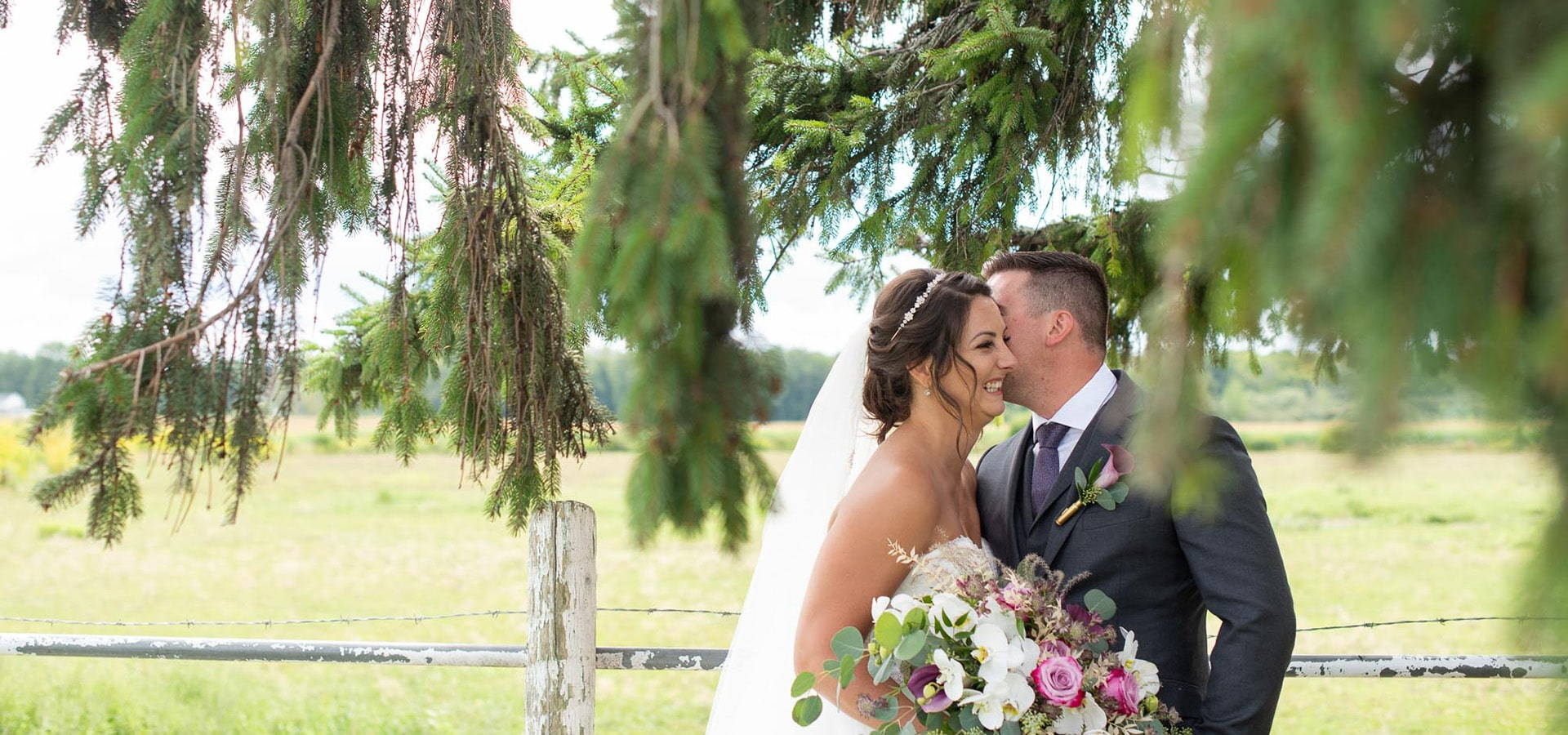 Hero image for Erica and Rob's Rustically Elegant Wedding at Maple Meadow Farm