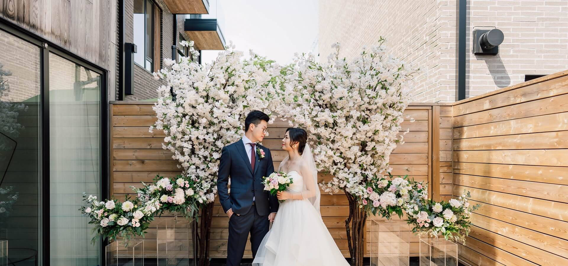 Hero image for Elva and Jason's Beautiful At-Home Ceremony