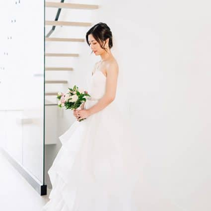 Chen Chen featured in Elva and Jason's Beautiful At-Home Ceremony
