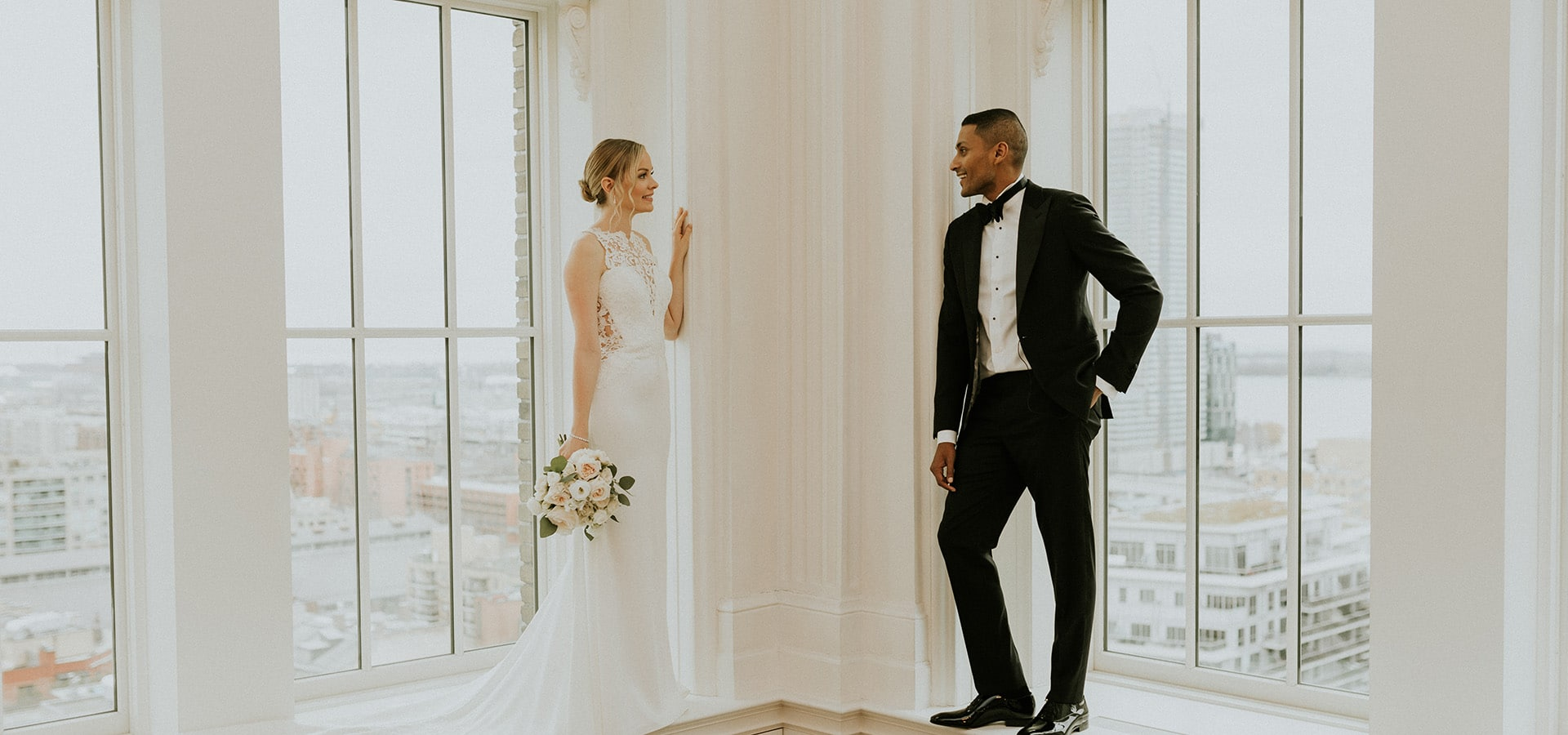 Hero image for Alana and Brendon's Cozy-yet-Luxurious Wedding at The King Edward Hotel