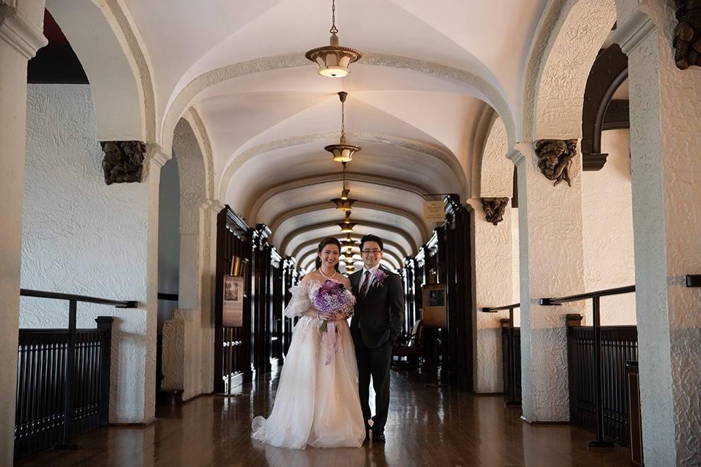 Wedding at Casa Loma, Toronto, Ontario, White by LaMemoir, 16