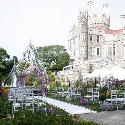 Designed Dream Events featured in Amanda and David's Socially Distanced Ceremony at Casa Loma