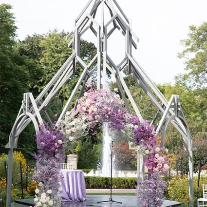 Peachwood Studio featured in Amanda and David's Socially Distanced Ceremony at Casa Loma