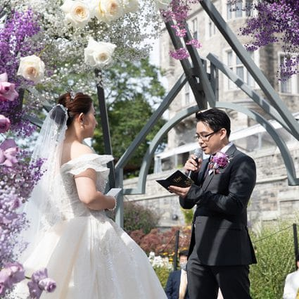 Dr. Joshua Lam featured in Amanda and David's Socially Distanced Ceremony at Casa Loma