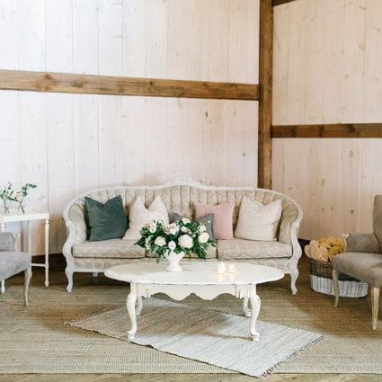 Tufts and Toile featured in Laura and Mike's Exquisite Wedding at Earth to Table Farm