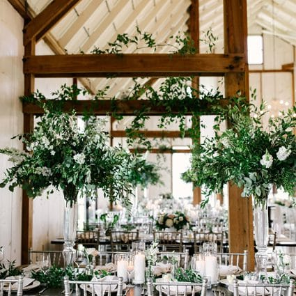 Simply Beautiful Decor featured in Laura and Mike's Exquisite Wedding at Earth to Table Farm
