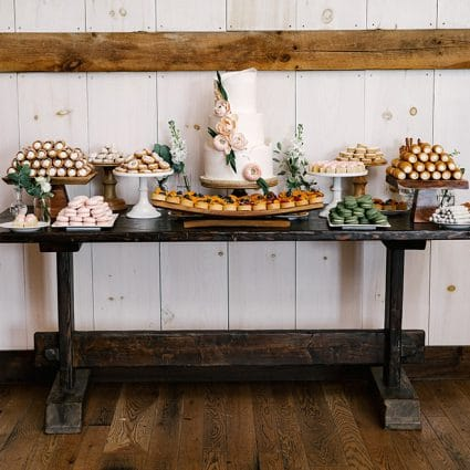 Sweet Celebrations featured in Laura and Mike's Exquisite Wedding at Earth to Table Farm