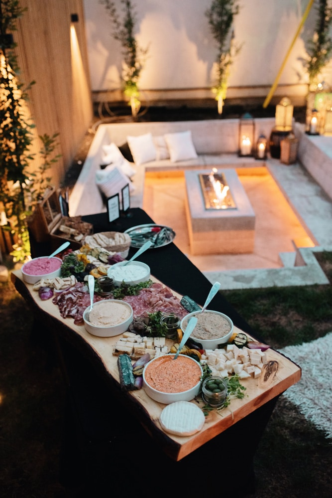 a luxurious backyard party, 10