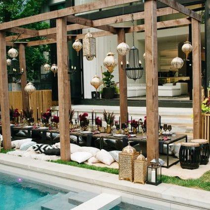 Rachel A. Clingen Wedding & Event Design featured in A Luxurious Backyard Birthday Party that Won't Soon Be Forgotten