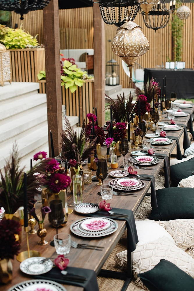 a luxurious backyard party, 7