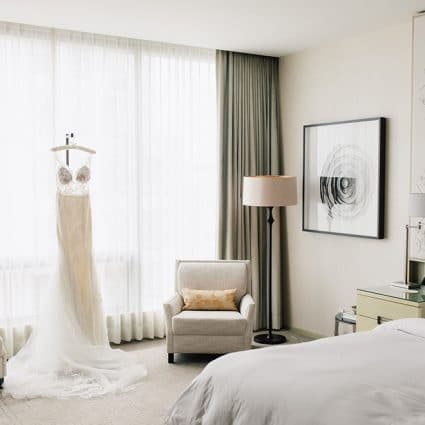 Amanda-Lina's Sposa Bridal Boutique featured in Amanda and Adam's Luxurious Wedding at the Four Seasons Hotel
