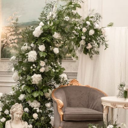 De Novo Florals featured in Yilin and Alson's Summer Nuptials Amidst the COVID-19 Pandemic