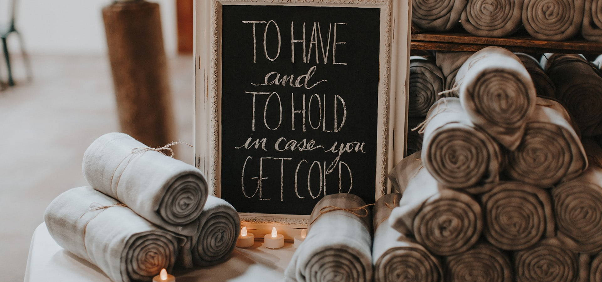 Hero image for 8 Ways to Take your Wedding from Cold to Cozy!