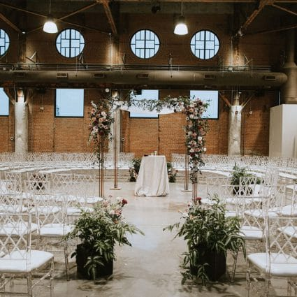 Blush & Bowties featured in Christina and Dan's Glam-Meets-City Chic Wedding at the Symes