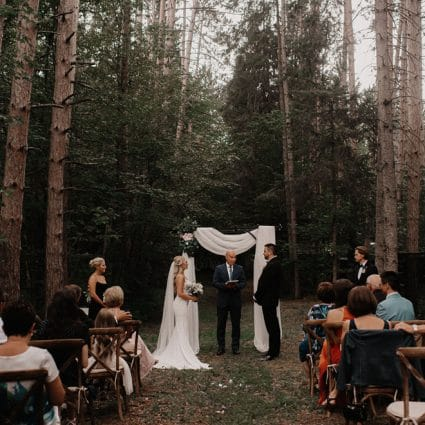 """LaBuick Ceremonies featured in Willa and Z say """"I Do"""" in a Stunning Backyard Wedding"""