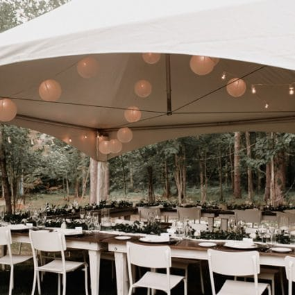 """The Event Design Co. featured in Willa and Z say """"I Do"""" in a Stunning Backyard Wedding"""