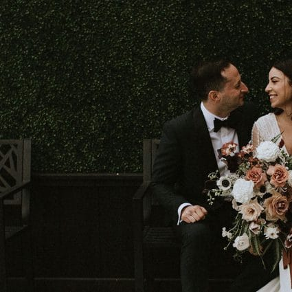 Thumbnail for Christina and Dan's Glam-Meets-City Chic Wedding at the Symes