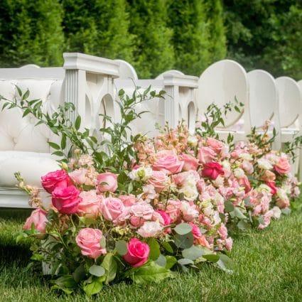 Rachel A. Clingen Wedding & Event Design featured in Yuliya and Gary's Lush Wedding at Graydon Hall