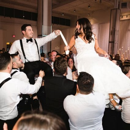 Universal Boogie Band featured in Sami and Jordan's Romantic Wedding at The Warehouse Event Venue