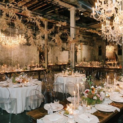 Fermenting Cellar featured in Jenna and Rob's Chic Wedding at the Fermenting Cellar