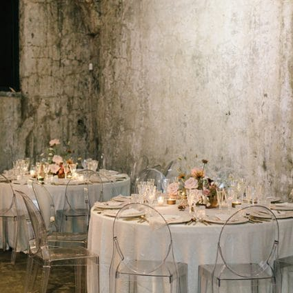 Plate Occasions featured in Jenna and Rob's Chic Wedding at the Fermenting Cellar