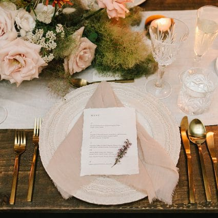 Linen Closet featured in Jenna and Rob's Chic Wedding at the Fermenting Cellar