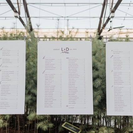Paper & Poste featured in Leslie and Damien's Rustic-Chic Wedding at Evergreen Brick Works