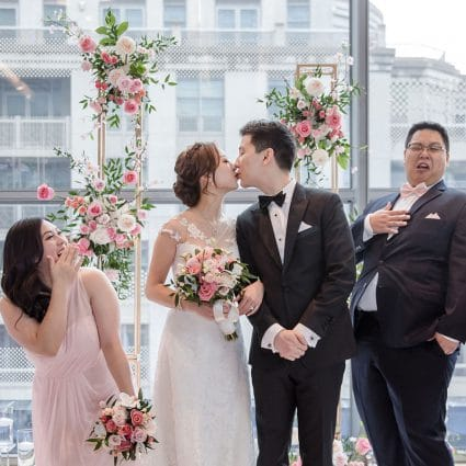 Roy Pro MC featured in Stephanie and Teddy's Magical Wedding at The Four Seasons