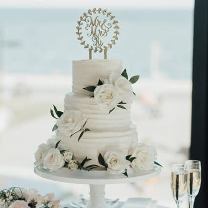 Sugar Suite featured in Mindy and Damian's Lakeview Wedding at Spencer's at the Water…