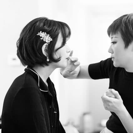 MYU Makeup - Michelle Yu featured in Mindy and Damian's Lakeview Wedding at Spencer's at the Water…