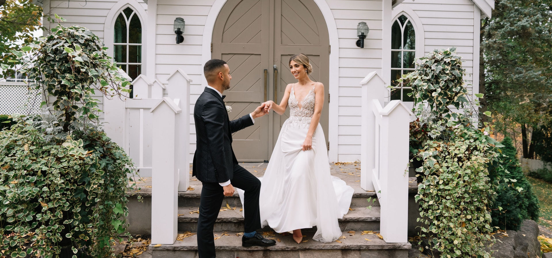 Hero image for Michelle and Jorge's Super Sweet Fall Micro-Wedding